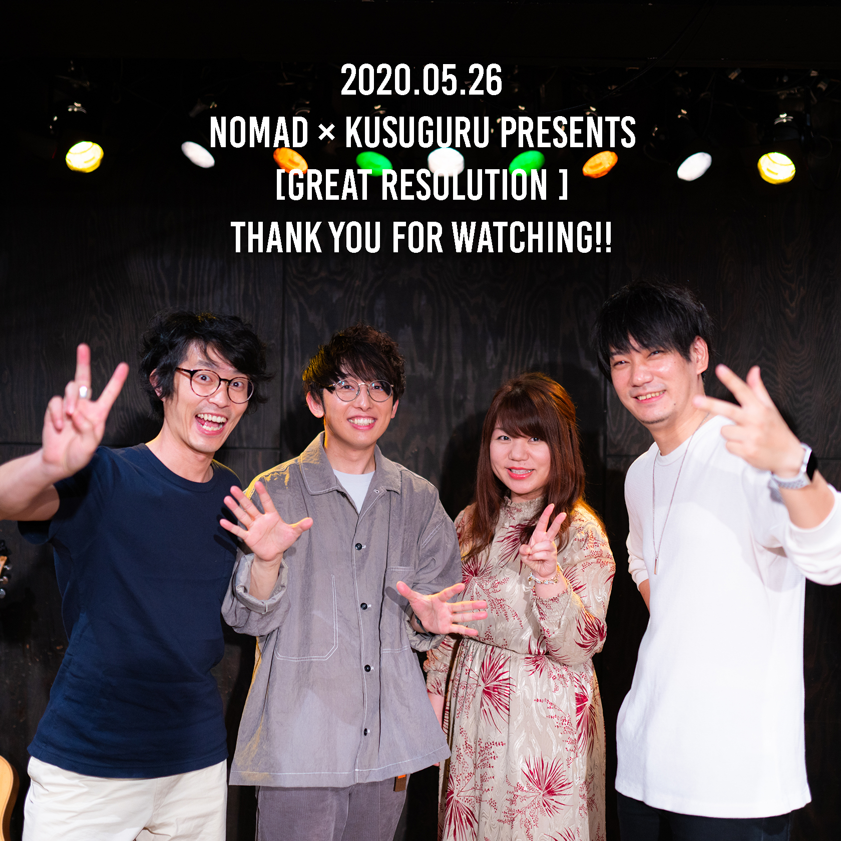 2020.05.26 NOMAD × kusuguru Presents 「GREAT RESOLUTION 」音源ポストカードページ